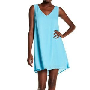 NWT Chelsea28 Lace-Up Back Dress Teal Ocean
